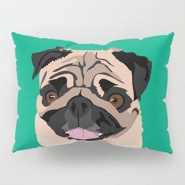 Hank the pug Pillow Sham
