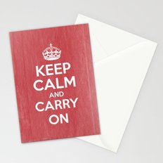 Keep Calm and Carry On - Red Book Stationery Cards