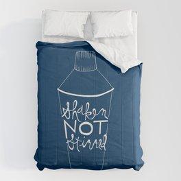 shaken in navy Comforters