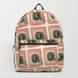 Old Iranian Stamp Backpack