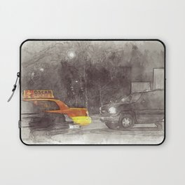 NYC Yellow Cabs Movie - SKETCH Laptop Sleeve