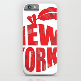New York Big Apple Statue of Liberty Empire State iPhone Case