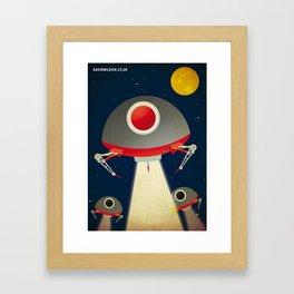 Space Invaders Framed Art Print
