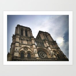 Notre Dame Towers Art Print