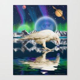 Spirit Raven - Keeper of Worlds Canvas Print