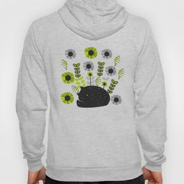 Sleepy cat and floral bouquet Hoody