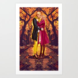 Supercat Fall Art Print