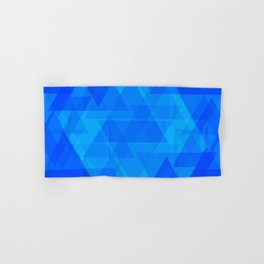 Bright blue and celestial triangles in the intersection and overlay. Hand & Bath Towel
