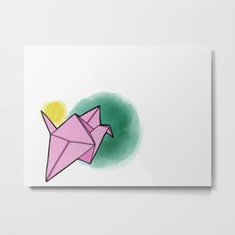 Paper bird Metal Print