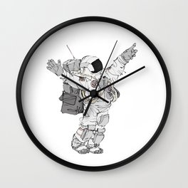 Astronaut Welcoming Visitors Wall Clock