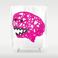 brain Shower Curtains featuring brain by Bearcat