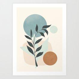 Azzurro Shapes No.53 Art Print