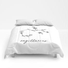 Sagittarius Floral Zodiac Constellation Comforters