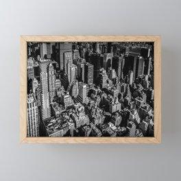 Manhattan Rooftop View Framed Mini Art Print