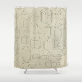 Geometric Crystals Shower Curtain