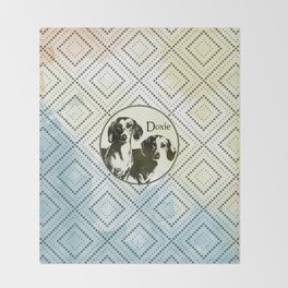 Dachshund dog  - Doxie Throw Blanket