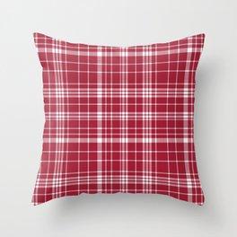 Bama crimson tide college state pattern print university of alabama varsity alumni gifts plaid Throw Pillow