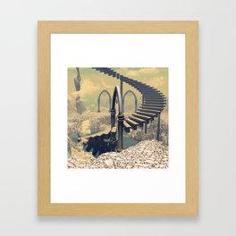 The treppe in the sky Framed Art Print