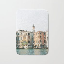 Travel photography | Architecture of Venice | Pastel colored buildings and the canals | Italy Bath Mat