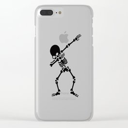 Dabbing skeleton (Dab) Clear iPhone Case