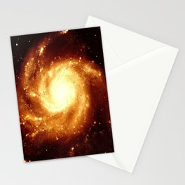 Golden Spiral Galaxy Stationery Cards