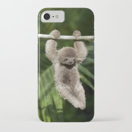 Hanging Around - Baby Three-toed Sloth iPhone Case