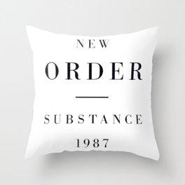 New Order - Techno Pop Throw Pillow