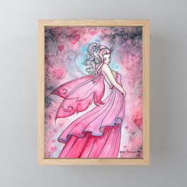 Fairy of Love by Molly Harrison Fantasy Art Framed Mini Art Print