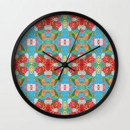 Kantha Tile Wall Clock