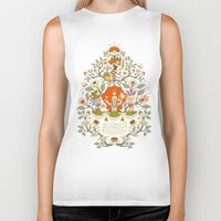 alice in wonderland Biker Tanks featuring Wonderland by rosekipik