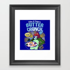 Adam and cringer's Butter Crunch Cereals Framed Art Print