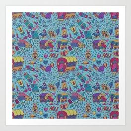 Caravan Pattern Art Print