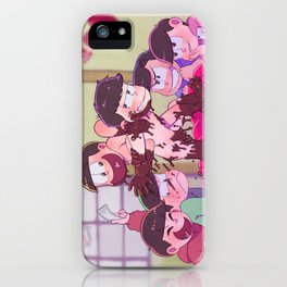 Matsuno bros' Valentine day iPhone Case