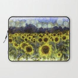 Sunflower Fields Of Dreams Art Laptop Sleeve