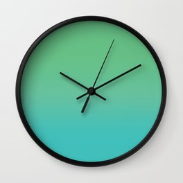 Green & Teal Ombre Wall Clock