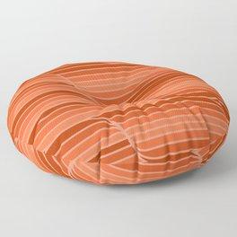 Geo Stripes - Rust Orange Floor Pillow