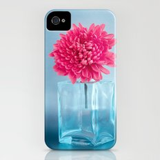 LE NOBLE - Pink flower in blue glass vase iPhone (4, 4s) Slim Case