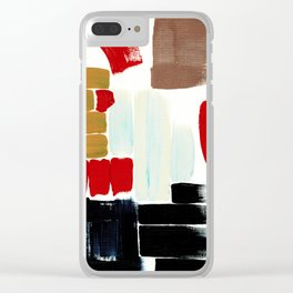 Abstract Sampler Clear iPhone Case