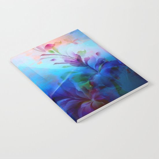 Sunset Painterly Floral Notebook