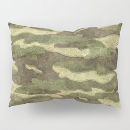 Distressed Camouflage Pillow Sham