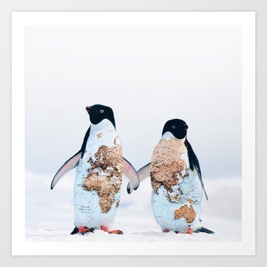 Travel Penguins by heyluisa
