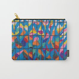 Sunset in a Grid Carry-All Pouch