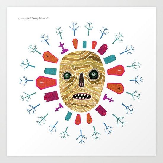 Halloween print: Mummy Art Print