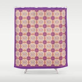 Mediterranean Floral Tiles Shower Curtain