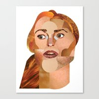 lindsay lohan Canvas Prints featuring Lindsay Lohan  by Rebecca Singer Illustration