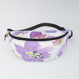 Purple Geranium Fanny Pack