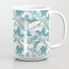 Whales and waves pattern Coffee Mug