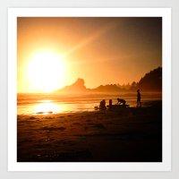 Sunset in Tofino, Cox Bay Art Print