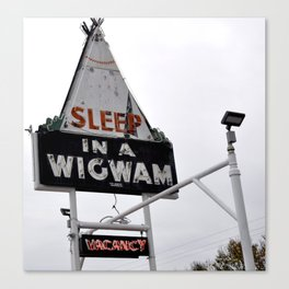 Wigwam Motel Canvas Print