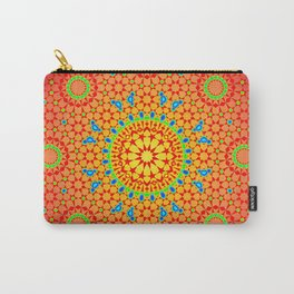 Springtime Pop Art Red & Blue Spread Pattern Carry-All Pouch